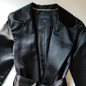 Bannana Republic belted crepe coat black small